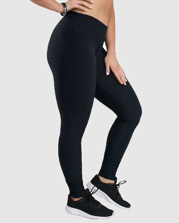 jacquard leggings black side view