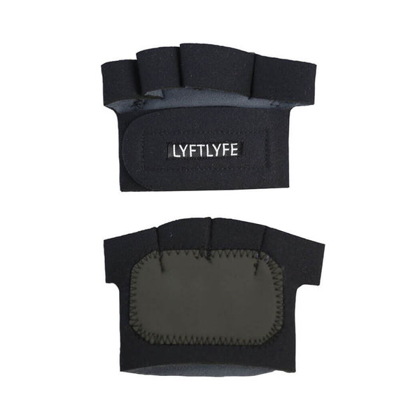 LYFTLYFE Half Palm Gloves-Black