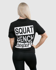 Squat, Bench, Deadlift Women's T-Shirt - Black