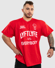 LYFTLYFE vs Everybody Tee-Red