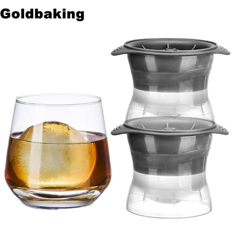 2pc Oversized Sphere Ice Molds for 2.5 Inch Ball