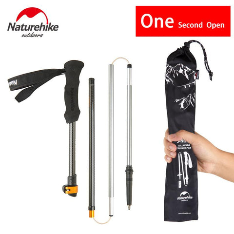 Hiking Walking Stick 5 Section Telescopic Cane