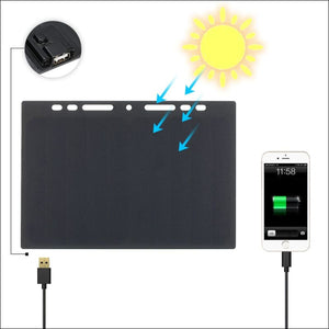 10W Portable Silicon Solar Panel Charger USB Port for Cell Phone- ULTRABEAST FITNESS