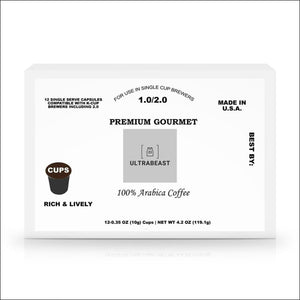 12 Pack Single Serve Coffee POD Capsules- ULTRABEAST FITNESS