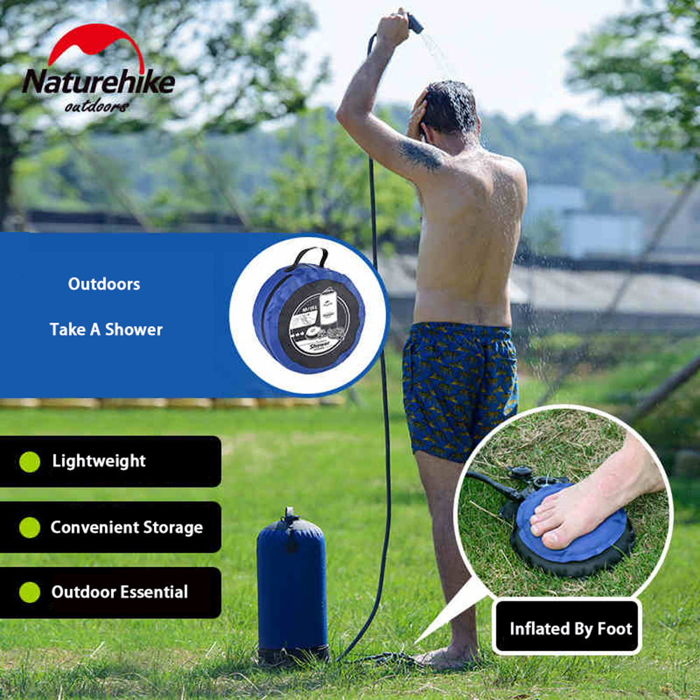 11L Pvc Portable Shower Outdoor Camping Shower Hiking Hydration Water Bag Water Tank Waterbag- ULTRABEAST FITNESS