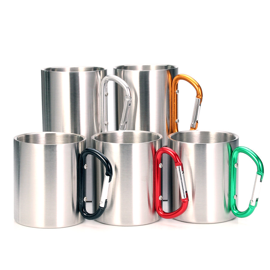 Stainless Steel Double Walled Mugs.