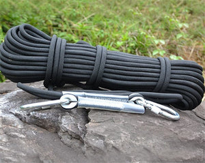 Professional Climbing Cord 12mm Diameter Length 10-100m 18KN High Strength polypropylene Paracord Safety Rope with 2pcs Buckle