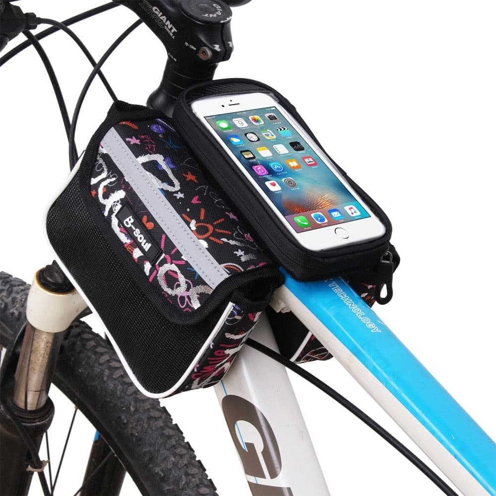 5.5 Inch Touch Screen Bicycle Bag with double pouch.- ULTRABEAST FITNESS