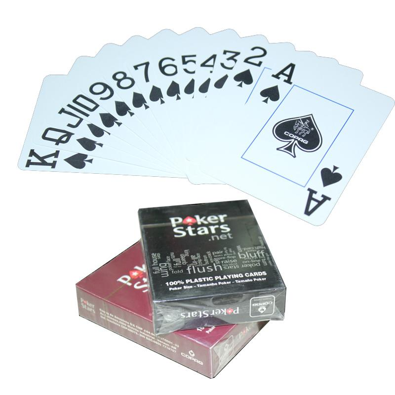 Texas Hold'em Plastic Playing Cards Waterproof Frosting Poker Card Pokerstar Board Game