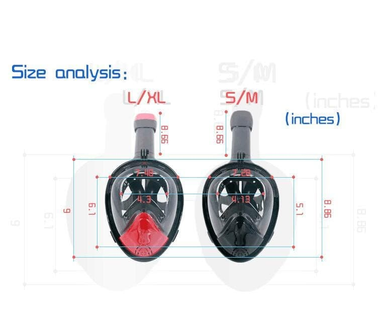 Full Face Snorkeling Masks Swimming Panoramic View w/ Anti-fog and Anti-Leak- ULTRABEAST FITNESS