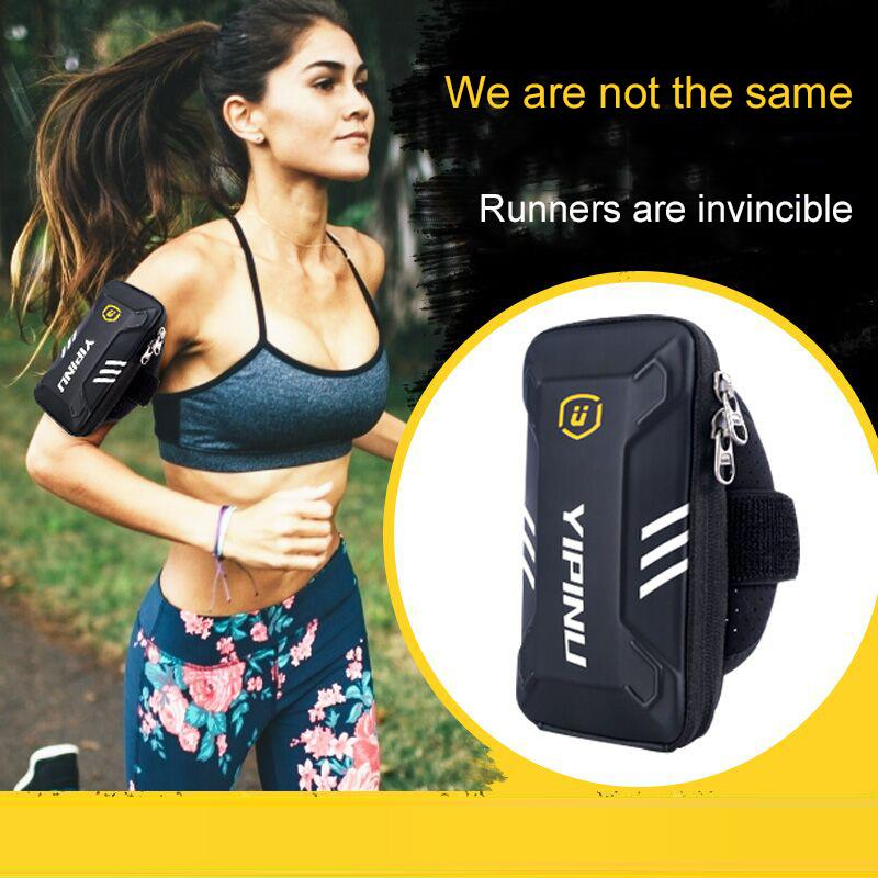 Waterproof Fitness Jogging Phone Holder Armband Gym Arm Bag Night Running