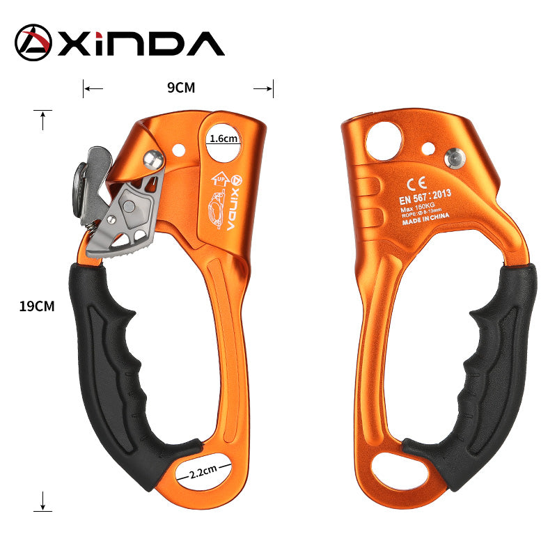 Rock Climbing Left Hand Grasp 8mm-13mm ascender tool