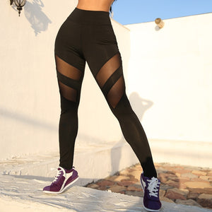 Women Mesh Patchwork Sport Leggings for Women