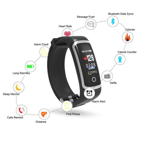 Image of Fitness Tracker M4 Waterproof Smart Bracelet with bluetooth- ULTRABEAST FITNESS