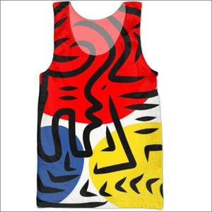 Abstract Colorful All over printed tank tops- ULTRABEAST FITNESS