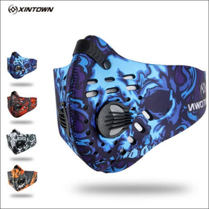 Activated Carbon Dust-proof Cycling Face Mask Anti-Pollution Bicycle Bike Outdoor Training  shield