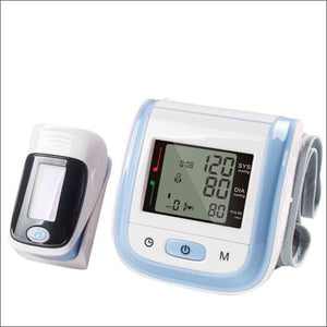Digital Wrist Blood Pressure Monitor and Fingertip and O2sat