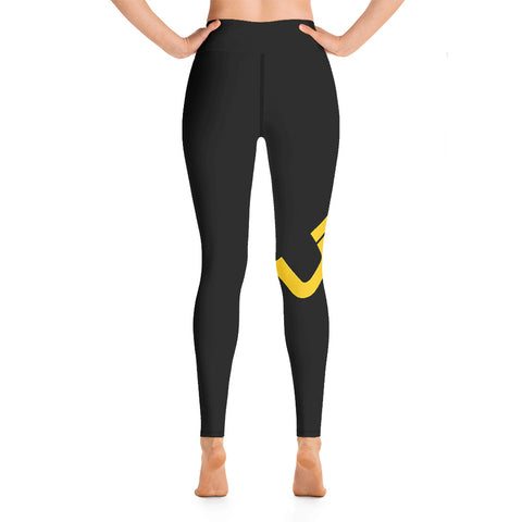 "Image of Black Yoga ""UBF PRINTED"" Leggings- ULTRABEAST FITNESS"