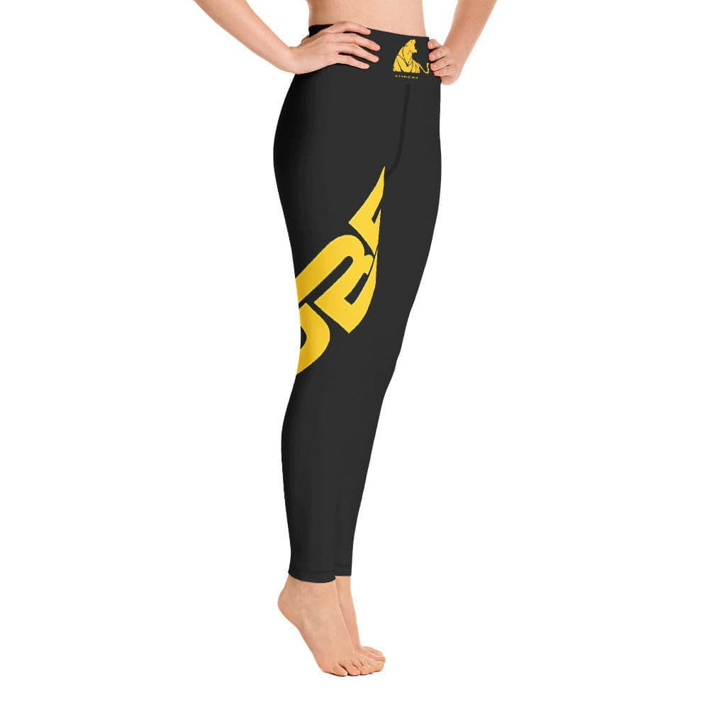 "Black Yoga ""UBF PRINTED"" Leggings- ULTRABEAST FITNESS"
