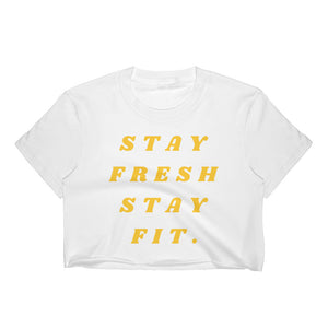 "Women's ""SFSF QUOTE""Crop Top"
