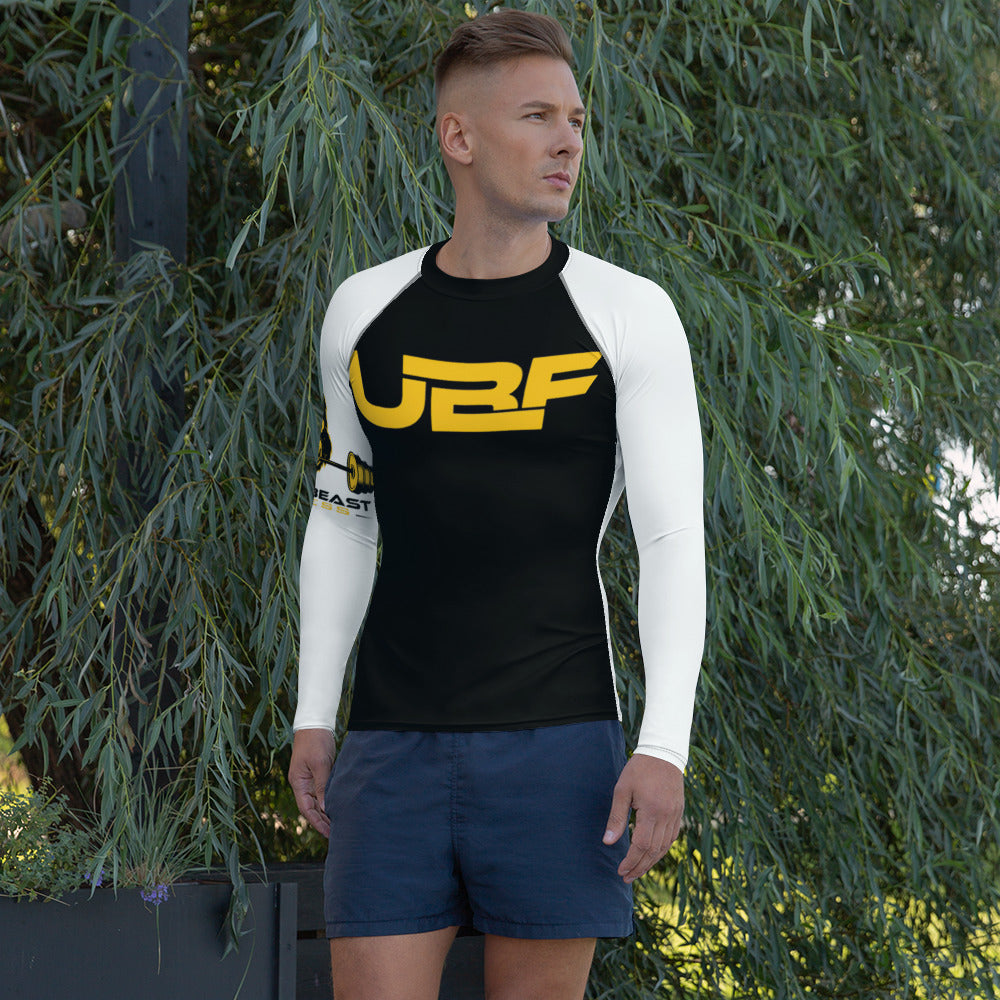 Men's blknwhte Rash Guard- ULTRABEAST FITNESS