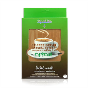Open image in slideshow, Natural Extract Espresso Coffee Break Facial Masks- ULTRABEAST FITNESS