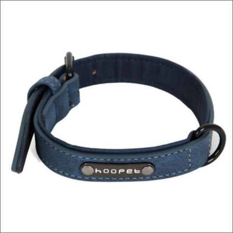 Pet Dog Luxury Strong Collar Reflective - L / Blue - Home & Garden