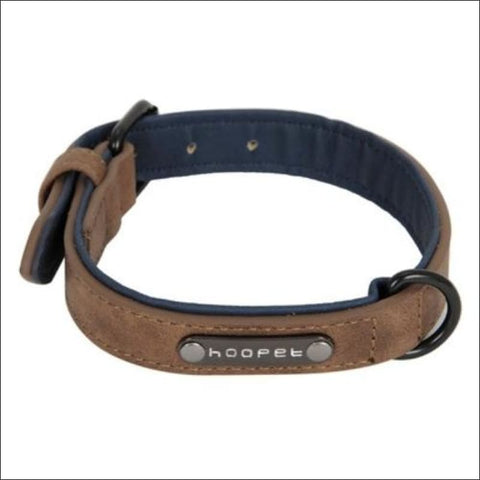 Image of Pet Dog Luxury Strong Collar Reflective - L / Brown - Home & Garden