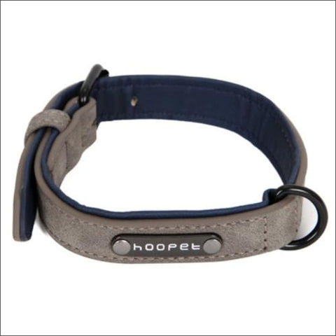 Image of Pet Dog Luxury Strong Collar Reflective - L / Gray - Home & Garden