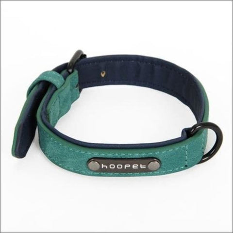 Image of Pet Dog Luxury Strong Collar Reflective - L / Green - Home & Garden