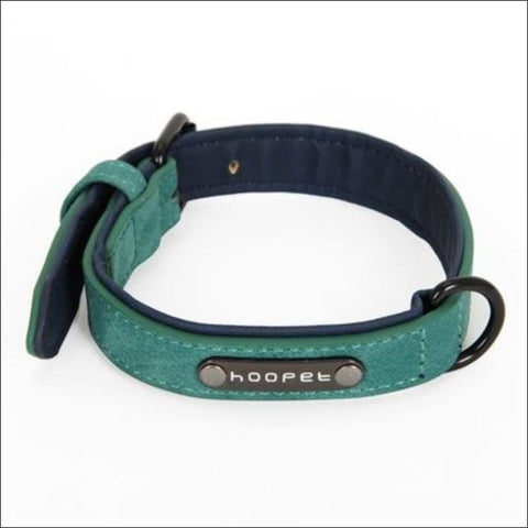 Pet Dog Luxury Strong Collar Reflective - L / Green - Home & Garden