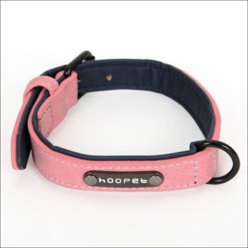 Pet Dog Luxury Strong Collar Reflective - L / Pink - Home & Garden