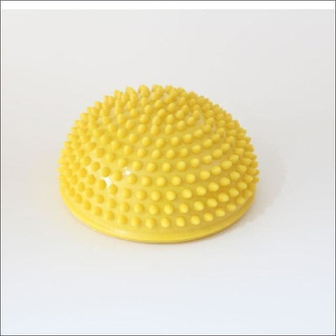 Image of Physical Fitness Yoga Half Ball - Yellow - Fitness Balls