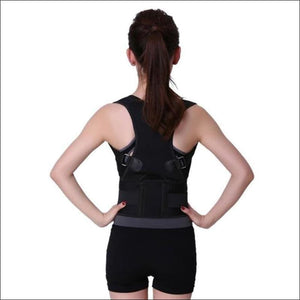 Posture Correction Waist Shoulder Chest Back Support - Black / Small - Braces & Supports