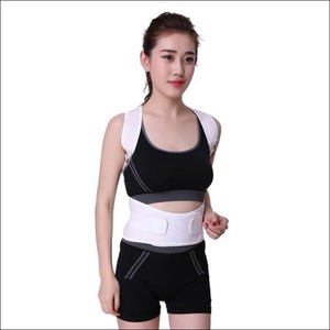 Posture Correction Waist Shoulder Chest Back Support - White / Small - Braces & Supports