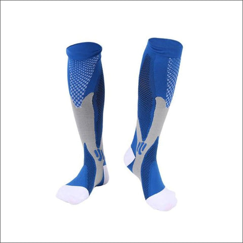 Image of Premium Compression Socks - D Blue / Height 34Cm - Sock