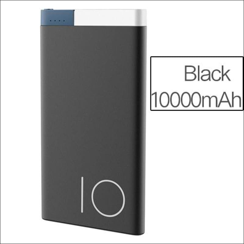 Rock Portable Ultra-Thin Polymer 10000Mah Powerbank - China / Black 10000 Mah