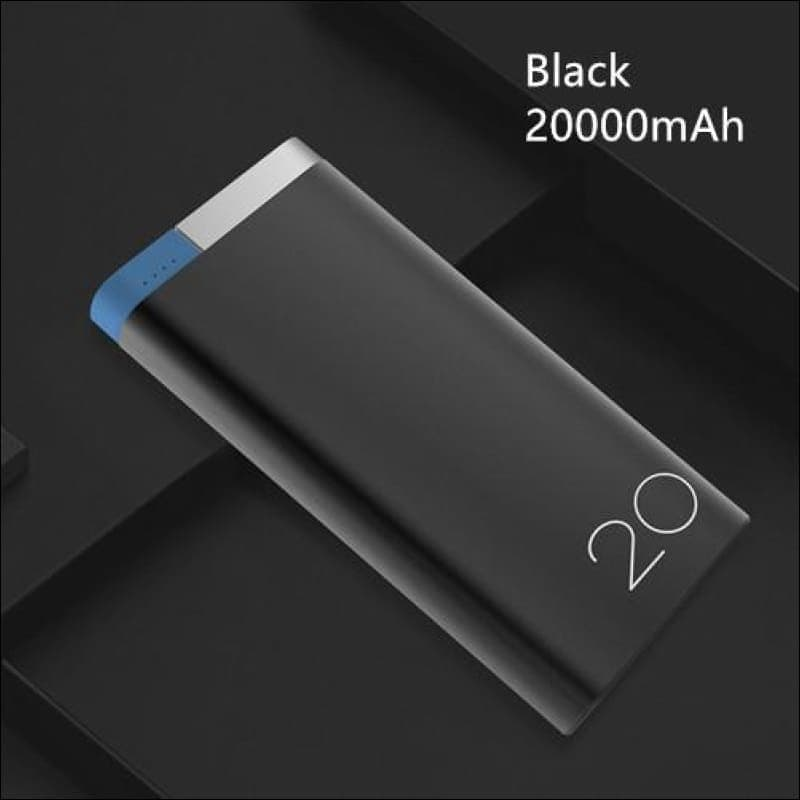 Rock Portable Ultra-Thin Polymer 10000Mah Powerbank - China / Black 20000 Mah