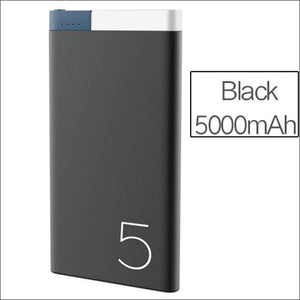 Rock Portable Ultra-Thin Polymer 10000Mah Powerbank - China / Black 5000 Mah