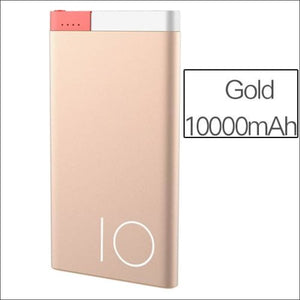 Rock Portable Ultra-Thin Polymer 10000Mah Powerbank - China / Gold 10000 Mah