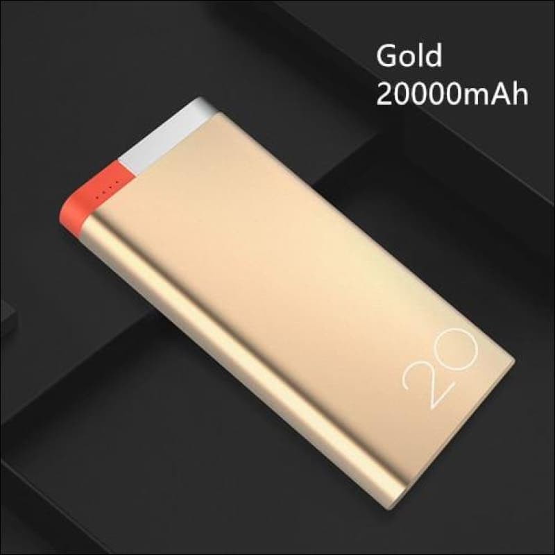 Rock Portable Ultra-Thin Polymer 10000Mah Powerbank - China / Gold 20000 Mah