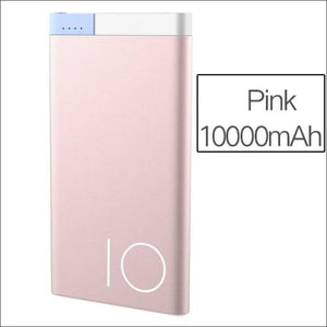 Rock Portable Ultra-Thin Polymer 10000Mah Powerbank - China / Pink 10000 Mah