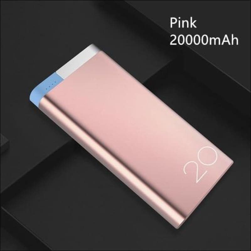 Rock Portable Ultra-Thin Polymer 10000Mah Powerbank - China / Pink 20000 Mah