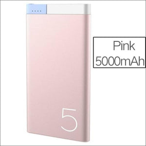 Rock Portable Ultra-Thin Polymer 10000Mah Powerbank - China / Pink 5000 Mah
