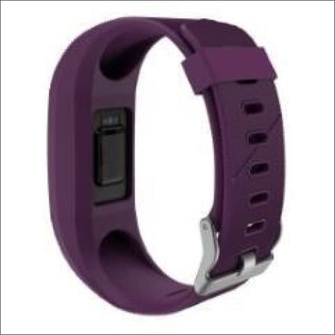 Silicone Fasteners Metal Clasps For Fit Bit - Purple - Watchbands