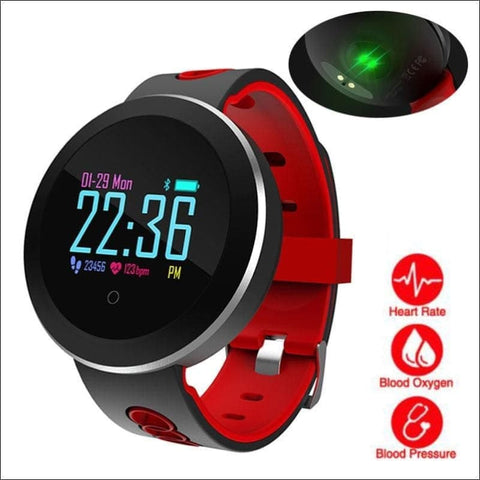 Image of Smart Watch W/ Heart Rate Monitoring And Step Tracker - Digital Wristwatches