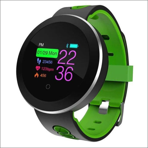Smart Watch W/ Heart Rate Monitoring And Step Tracker - Green - Digital Wristwatches