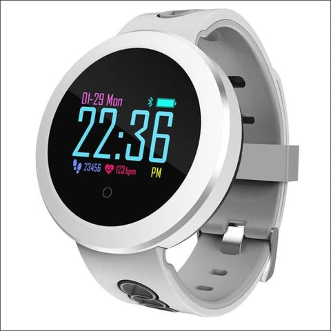 Smart Watch W/ Heart Rate Monitoring And Step Tracker - Grey - Digital Wristwatches