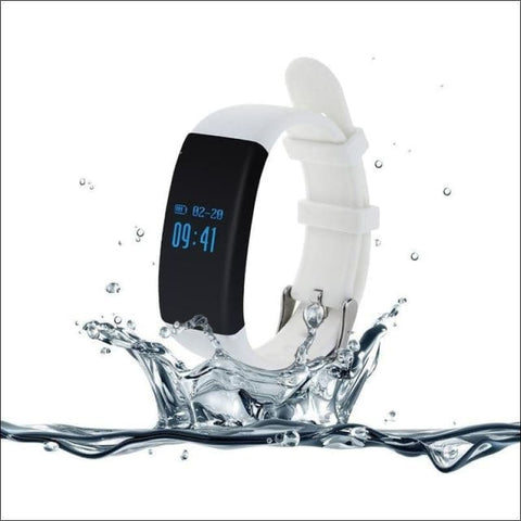 Smartband Waterproof Fitness Watch. - White - On Wrist