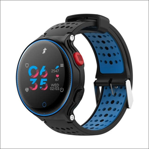 Image of Smartwatch & Heart Rate Tracker - Blue - On Wrist